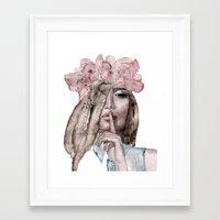 lolita Framed Art Prints featuring Lolita by Lebats