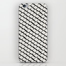 Modern Diamond Lattice 2 Black on Light Gray iPhone Skin