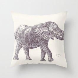 BALLPEN ELEPHANT 14 Throw Pillow