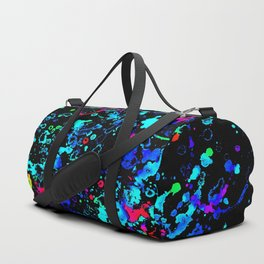 Night Splatter Neon Lights Duffle Bag