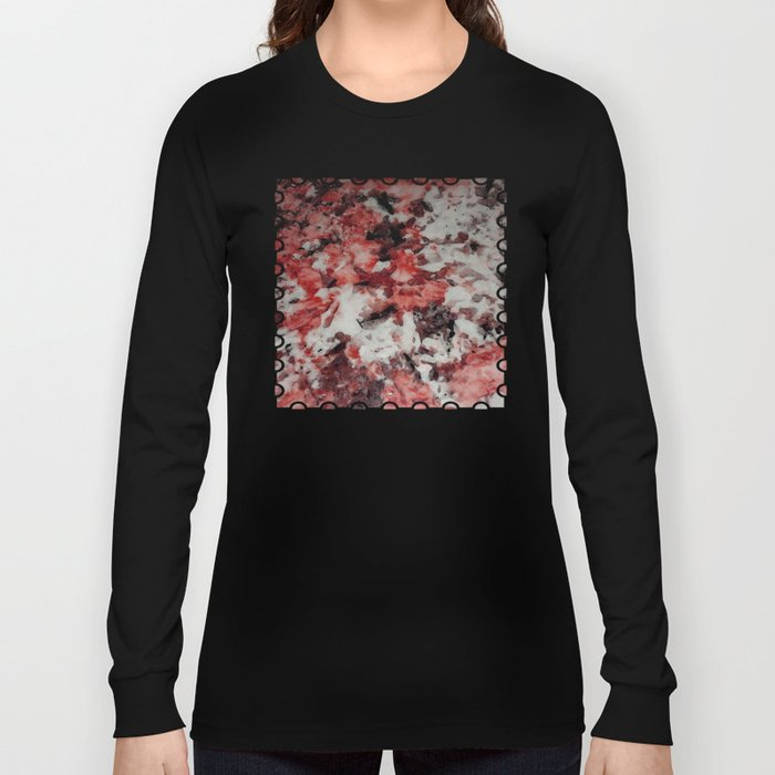 The Faces in the Ruby Red Snow Long Sleeve T-shirt