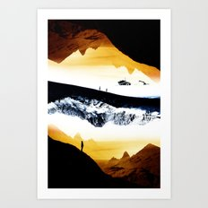 Hiking for Blue Isolation Art Print