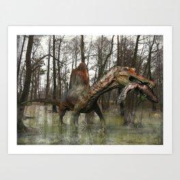 Spinosaurus Art Print