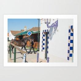 le cheval de Golega Art Print