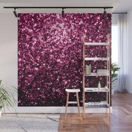 Beautiful Dark Pink glitter sparkles Wall Mural