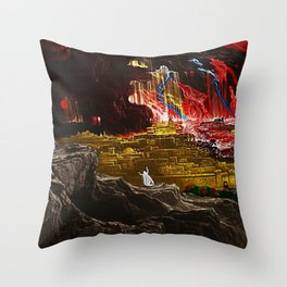 The Destruction of Sodom and Gomorrah landscape painting Throw Pillow