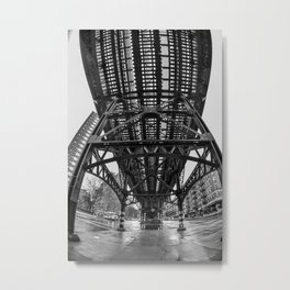 Under The Tracks Metal Print