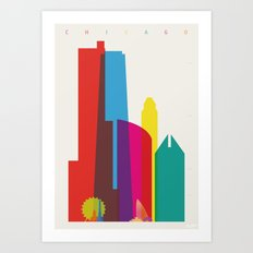 Shapes of Chicago. Accurate to scale Art Print