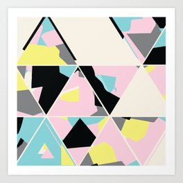 triangle no.3 / with love Art Print