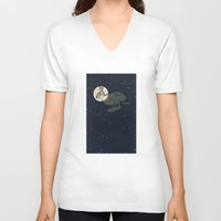interstellar V-neck T-shirts featuring Interstellar by Shany Atzmon