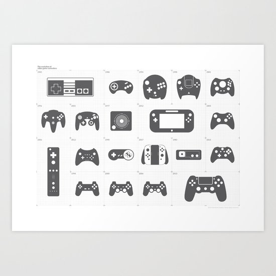 The Evolution of Video Game Controllers by mr_grdn