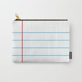 Notebook Paper Carry-All Pouch