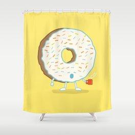The Sleepy Donut Shower Curtain