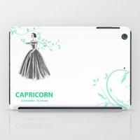 capricorn iPad Cases featuring Capricorn by Cansu Girgin