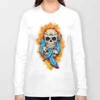 tribal Long Sleeve T-shirts featuring Tribal by Olena Nemitkova