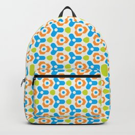 Retro Geometric Kaleidoscopic Seamless Pattern Backpack