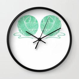So Much Yarn, So Little Time Gift Crocheting Crochet Gifts Premium T-Shirt Wall Clock
