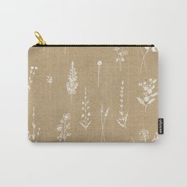 Wildflowers kraft Carry-All Pouch