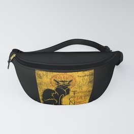Vintage Tournee du Chat Noir Black Cat product For Halloween Fanny Pack