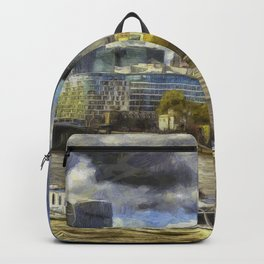 The River Thames And City Art Backpack