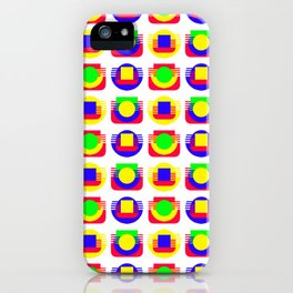Primary Colors, White Background iPhone Case