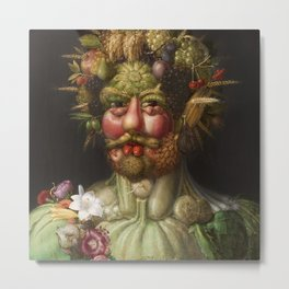 Guiseppe Arcimboldo's Rudolf II - Portrait from Fruit Metal Print