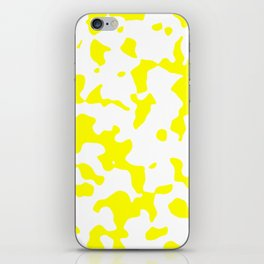 Large Spots - White and Yellow iPhone Skin