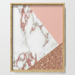 Marble - pink and gold Serving Tray