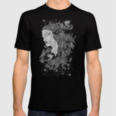 Cosmic dreams (B&W) Black SMALL Mens Fitted Tee