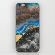 Storm Brewing - Fluid art on canvas iPhone Skin