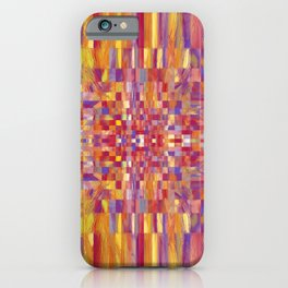 Inward Geometric Abstract iPhone Case