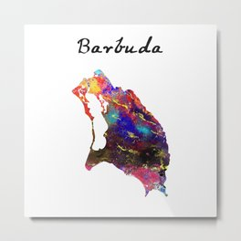 Barbuda Quote Art Design Inspirational Motivation Metal Print