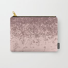 Speckled Rose Gold Glitter on Blush Pink Carry-All Pouch