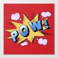 superheroes Canvas Prints featuring superheroes by mark ashkenazi