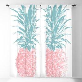 Simple Modern Boho Pineapple Drawing Blackout Curtain