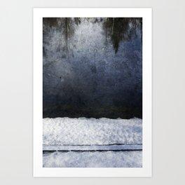 Cold Blue River Art Print