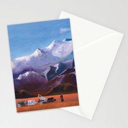 Nomadic Life - Mongolian Steppes Stationery Cards