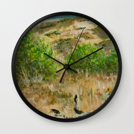 Boise Idaho foothills painting Wall Clock