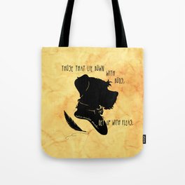 Those That Lie Down With Dogs, Get Up with Fleas Tote Bag