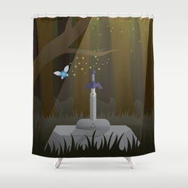 Master Sword Shower Curtain