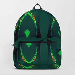 Arch Echoes on Green Backpack