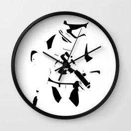 First Order Stormtrooper Minimalist  Wall Clock