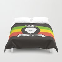 rasta Duvet Covers featuring Rasta Lion by Awesome
