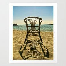 chair on the beach Art Print