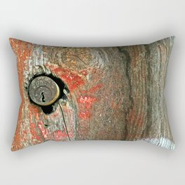 Weathered Wood Texture with Keyhole Rectangular Pillow