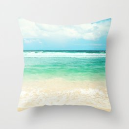 endless sea Throw Pillow