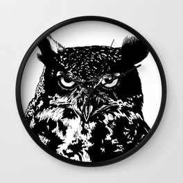 portrait of the owl Wall Clock