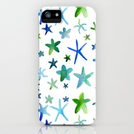 Watercolor Starfish Pattern iPhone Case