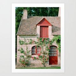 Rose Cottage Art Print