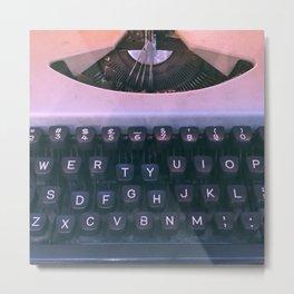 #02#Typewriter#vintage#machine Metal Print